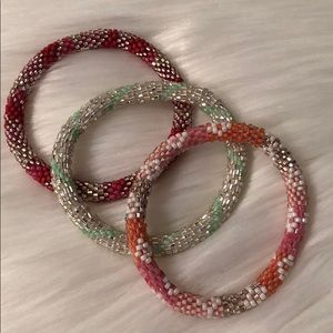 Lily and Laura Beaded Bracelet Bundle